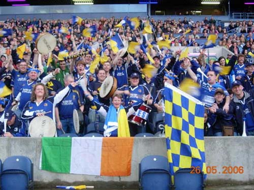 Leinster fans in Edinburgh